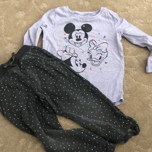 Disney outfit, pants and top